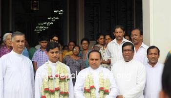 Fr. Patrick Sequeira taking charge as Asst. Parish Priest at Cordel Church