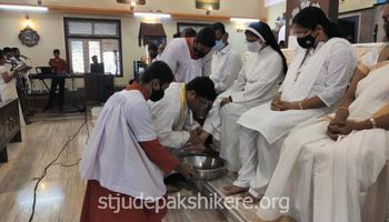 Maundy Thursday celebrated at St. Jude Church & Shrine Pakshikere