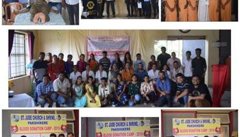 St. Jude Association Pakshikere & ICYM pakshikere unit organized Blood Donation Camp